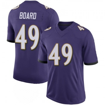 Youth Nike Baltimore Ravens Chris Board Purple 100th Vapor Jersey - Limited