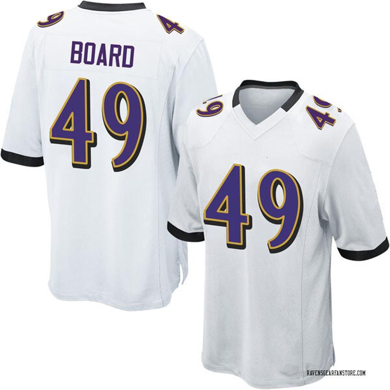 low priced 1393f 9b4b6 Youth Nike Baltimore Ravens Chris Board White Jersey - Game