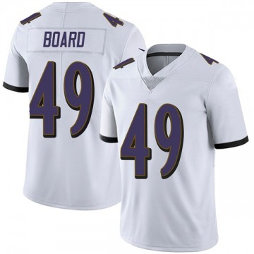 Youth Nike Baltimore Ravens Chris Board White Vapor Untouchable Jersey - Limited