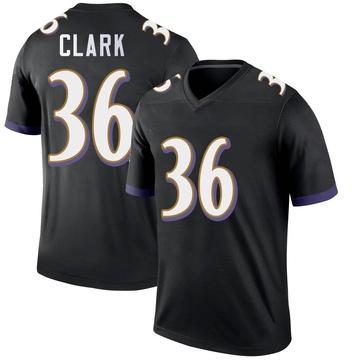 Youth Nike Baltimore Ravens Chuck Clark Black Jersey - Legend