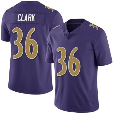 Youth Nike Baltimore Ravens Chuck Clark Purple Team Color Vapor Untouchable Jersey - Limited