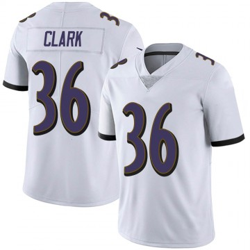 Youth Nike Baltimore Ravens Chuck Clark White Vapor Untouchable Jersey - Limited