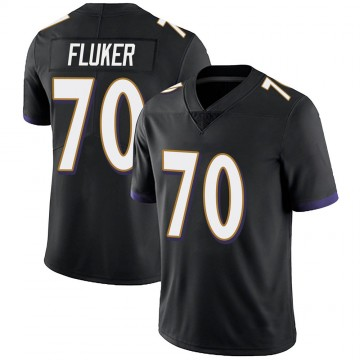 Youth Nike Baltimore Ravens D.J. Fluker Black Alternate Vapor Untouchable Jersey - Limited