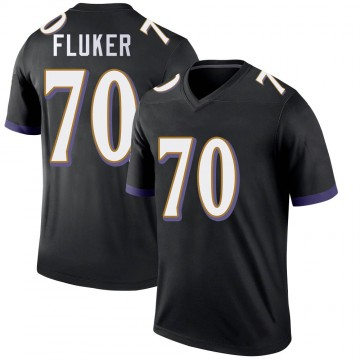 Youth Nike Baltimore Ravens D.J. Fluker Black Jersey - Legend