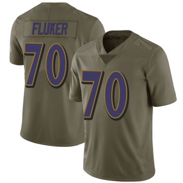 Youth Nike Baltimore Ravens D.J. Fluker Green 2017 Salute to Service Jersey - Limited