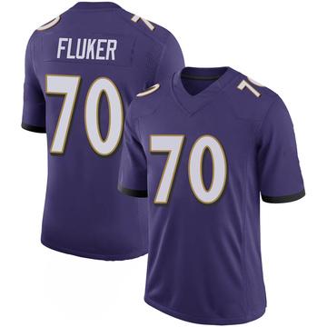 Youth Nike Baltimore Ravens D.J. Fluker Purple 100th Vapor Jersey - Limited