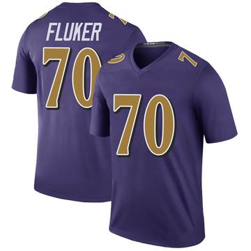 Youth Nike Baltimore Ravens D.J. Fluker Purple Color Rush Jersey - Legend
