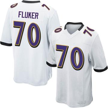 Youth Nike Baltimore Ravens D.J. Fluker White Jersey - Game