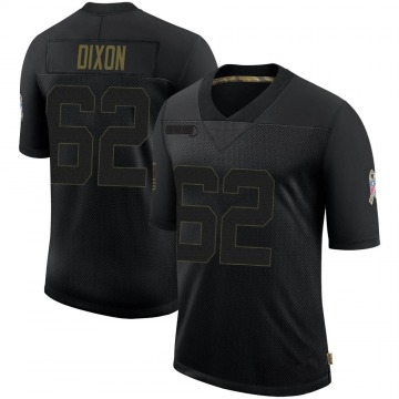 Youth Nike Baltimore Ravens Daishawn Dixon Black 2020 Salute To Service Jersey - Limited