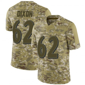Youth Nike Baltimore Ravens Daishawn Dixon Camo 2018 Salute to Service Jersey - Limited