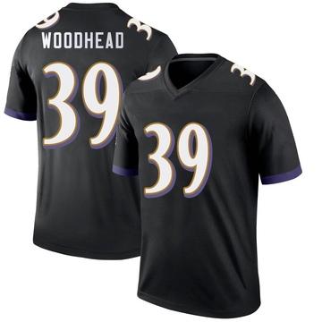 Youth Nike Baltimore Ravens Danny Woodhead Black Jersey - Legend