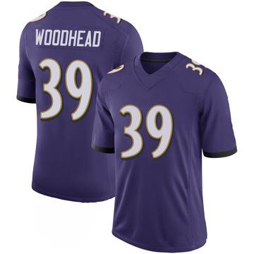 Youth Nike Baltimore Ravens Danny Woodhead Purple 100th Vapor Jersey - Limited