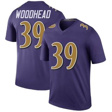 Youth Nike Baltimore Ravens Danny Woodhead Purple Color Rush Jersey - Legend