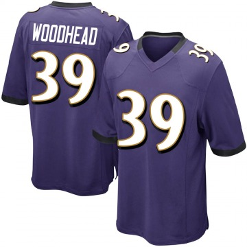 Youth Nike Baltimore Ravens Danny Woodhead Purple Team Color Jersey - Game