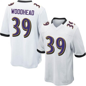 Youth Nike Baltimore Ravens Danny Woodhead White Jersey - Game