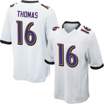 Youth Nike Baltimore Ravens De'Anthony Thomas White Jersey - Game