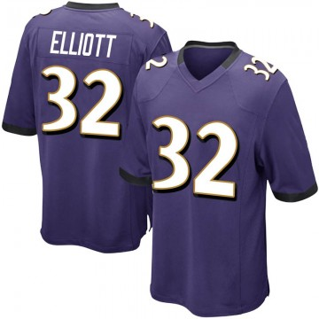 Youth Nike Baltimore Ravens DeShon Elliott Purple Team Color Jersey - Game