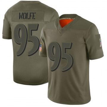 Youth Nike Baltimore Ravens Derek Wolfe Camo 2019 Salute to Service Jersey - Limited