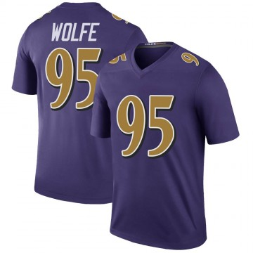 Youth Nike Baltimore Ravens Derek Wolfe Purple Color Rush Jersey - Legend
