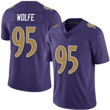 Youth Nike Baltimore Ravens Derek Wolfe Purple Team Color Vapor Untouchable Jersey - Limited
