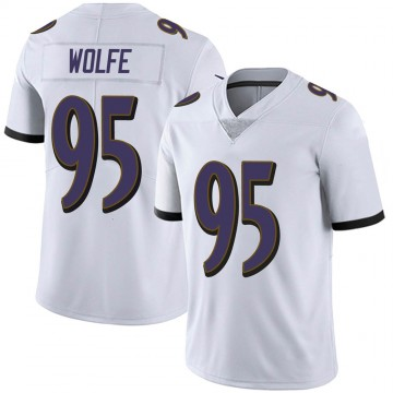 Youth Nike Baltimore Ravens Derek Wolfe White Vapor Untouchable Jersey - Limited