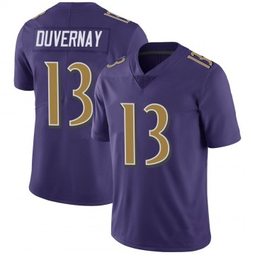 Youth Nike Baltimore Ravens Devin Duvernay Purple Color Rush Vapor Untouchable Jersey - Limited