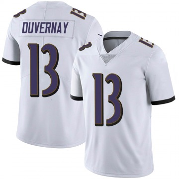 Youth Nike Baltimore Ravens Devin Duvernay White Vapor Untouchable Jersey - Limited