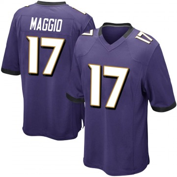 Youth Nike Baltimore Ravens Dom Maggio Purple Team Color Jersey - Game