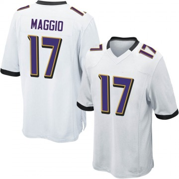 Youth Nike Baltimore Ravens Dom Maggio White Jersey - Game