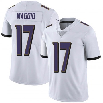 Youth Nike Baltimore Ravens Dom Maggio White Vapor Untouchable Jersey - Limited