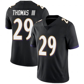 Youth Nike Baltimore Ravens Earl Thomas Black Alternate Vapor Untouchable Jersey - Limited