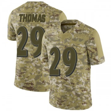 Youth Nike Baltimore Ravens Earl Thomas Camo 2018 Salute to Service Jersey - Limited
