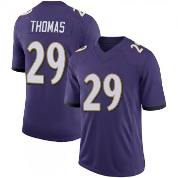 Youth Nike Baltimore Ravens Earl Thomas Purple 100th Vapor Jersey - Limited