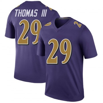 Youth Nike Baltimore Ravens Earl Thomas Purple Color Rush Jersey - Legend