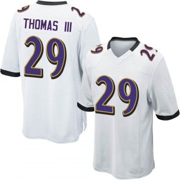 Youth Nike Baltimore Ravens Earl Thomas White Jersey - Game