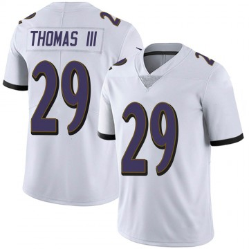 Youth Nike Baltimore Ravens Earl Thomas White Vapor Untouchable Jersey - Limited