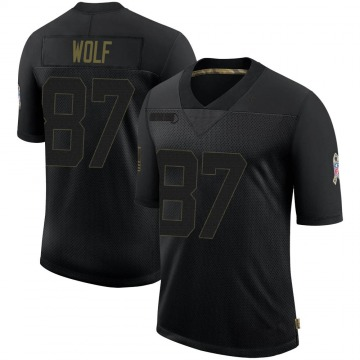 Youth Nike Baltimore Ravens Eli Wolf Black 2020 Salute To Service Jersey - Limited