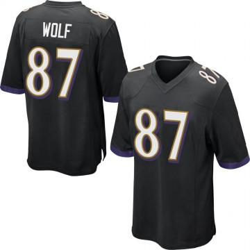 Youth Nike Baltimore Ravens Eli Wolf Black Jersey - Game
