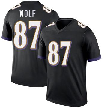Youth Nike Baltimore Ravens Eli Wolf Black Jersey - Legend
