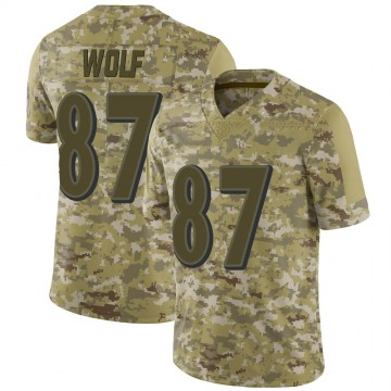 Youth Nike Baltimore Ravens Eli Wolf Camo 2018 Salute to Service Jersey - Limited