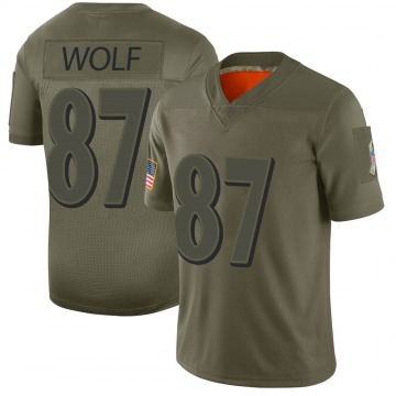 Youth Nike Baltimore Ravens Eli Wolf Camo 2019 Salute to Service Jersey - Limited