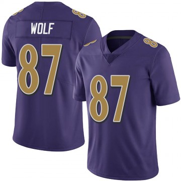 Youth Nike Baltimore Ravens Eli Wolf Purple Team Color Vapor Untouchable Jersey - Limited