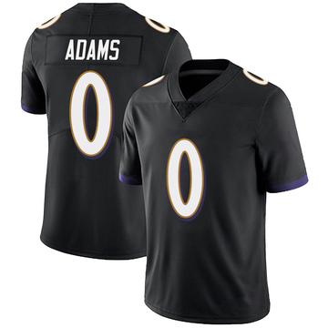 Youth Nike Baltimore Ravens Evan Adams Black Alternate Vapor Untouchable Jersey - Limited