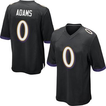 Youth Nike Baltimore Ravens Evan Adams Black Jersey - Game