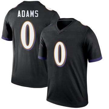 Youth Nike Baltimore Ravens Evan Adams Black Jersey - Legend