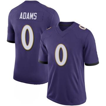 Youth Nike Baltimore Ravens Evan Adams Purple 100th Vapor Jersey - Limited