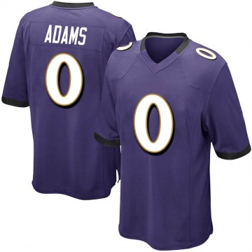 Youth Nike Baltimore Ravens Evan Adams Purple Team Color Jersey - Game
