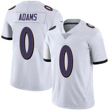 Youth Nike Baltimore Ravens Evan Adams White Vapor Untouchable Jersey - Limited