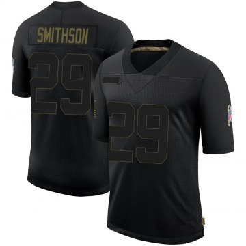 Youth Nike Baltimore Ravens Fish Smithson Black 2020 Salute To Service Jersey - Limited