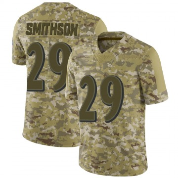 Youth Nike Baltimore Ravens Fish Smithson Camo 2018 Salute to Service Jersey - Limited
